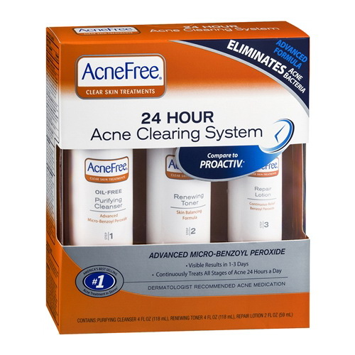 Acnefree 24 Hour Acne Clearing System, Toner And Lotion Kit - 10 Oz, 2 Pack