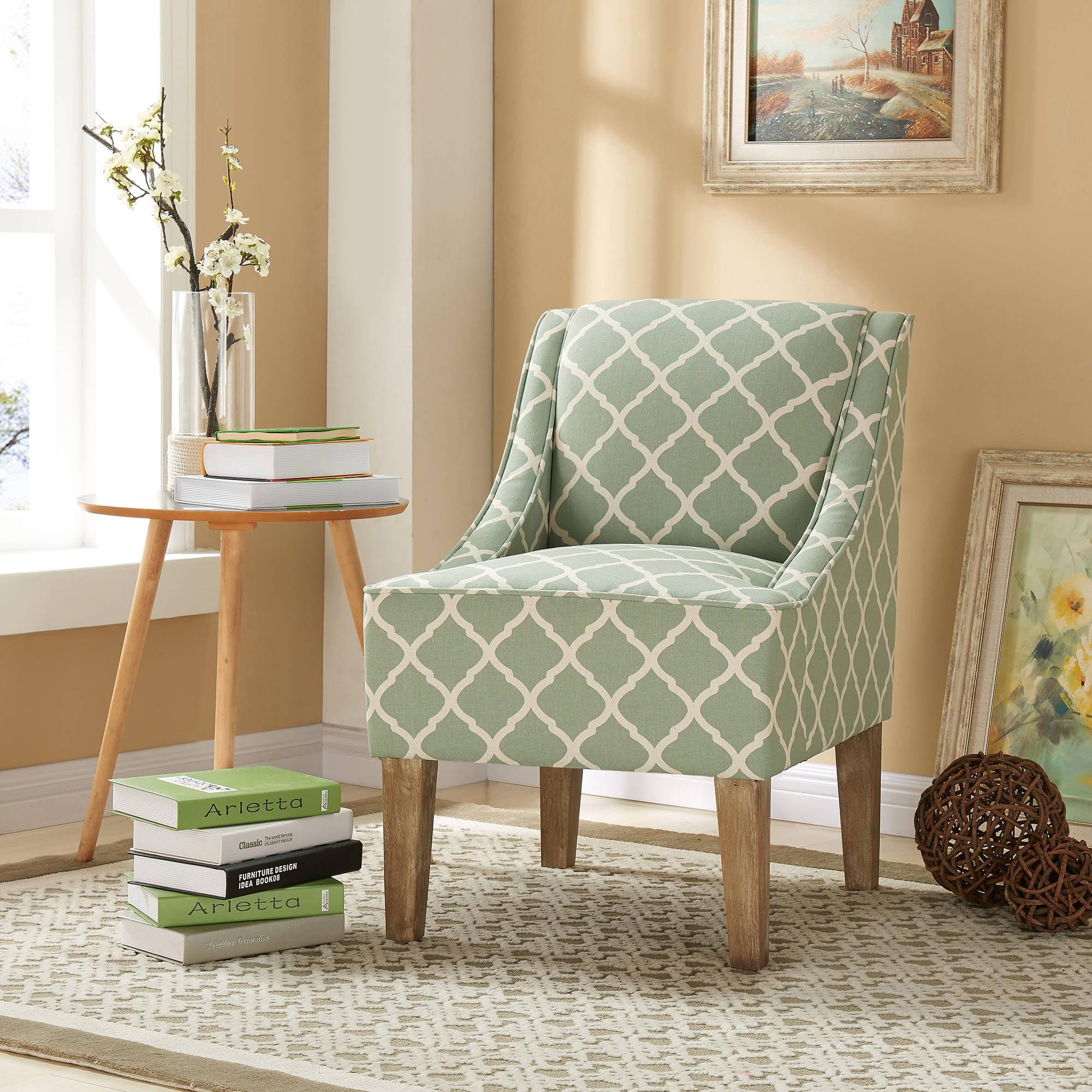 Better Homes U0026 Gardens Lattice Upholstered Swoop Chair, Sea Foam    Walmart.com