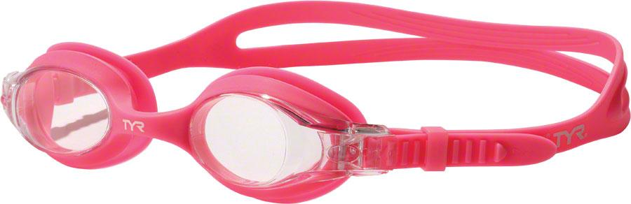 TYR Swimple Kids Goggle: Pink Gasket Clear Lens by Tyr