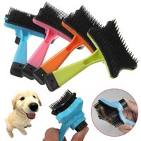 Fysho Pet grooming brush Pet Automatic Multi-functional Plastic Comb for Dogs Cats Pet Hair Removal Brush One Button Control