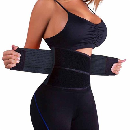 Waist Trainer Belt Waist Trimmer Slimming Body Shaper Belts Sport Girdle for Women - Black