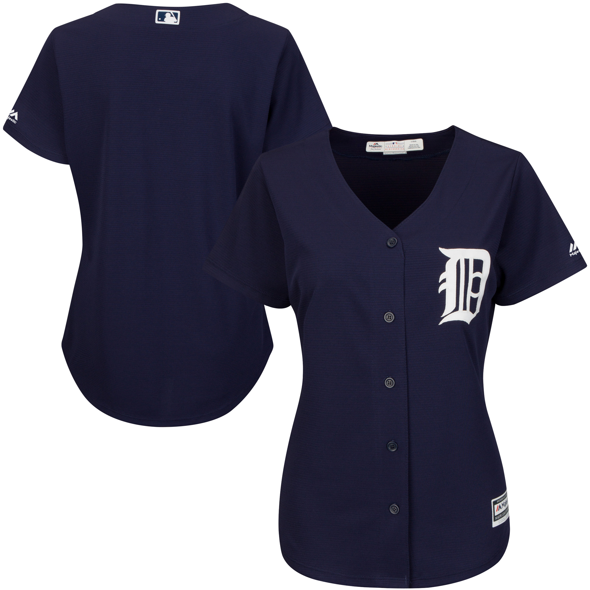 Detroit Tigers Majestic Women's Cool Base Jersey - Navy