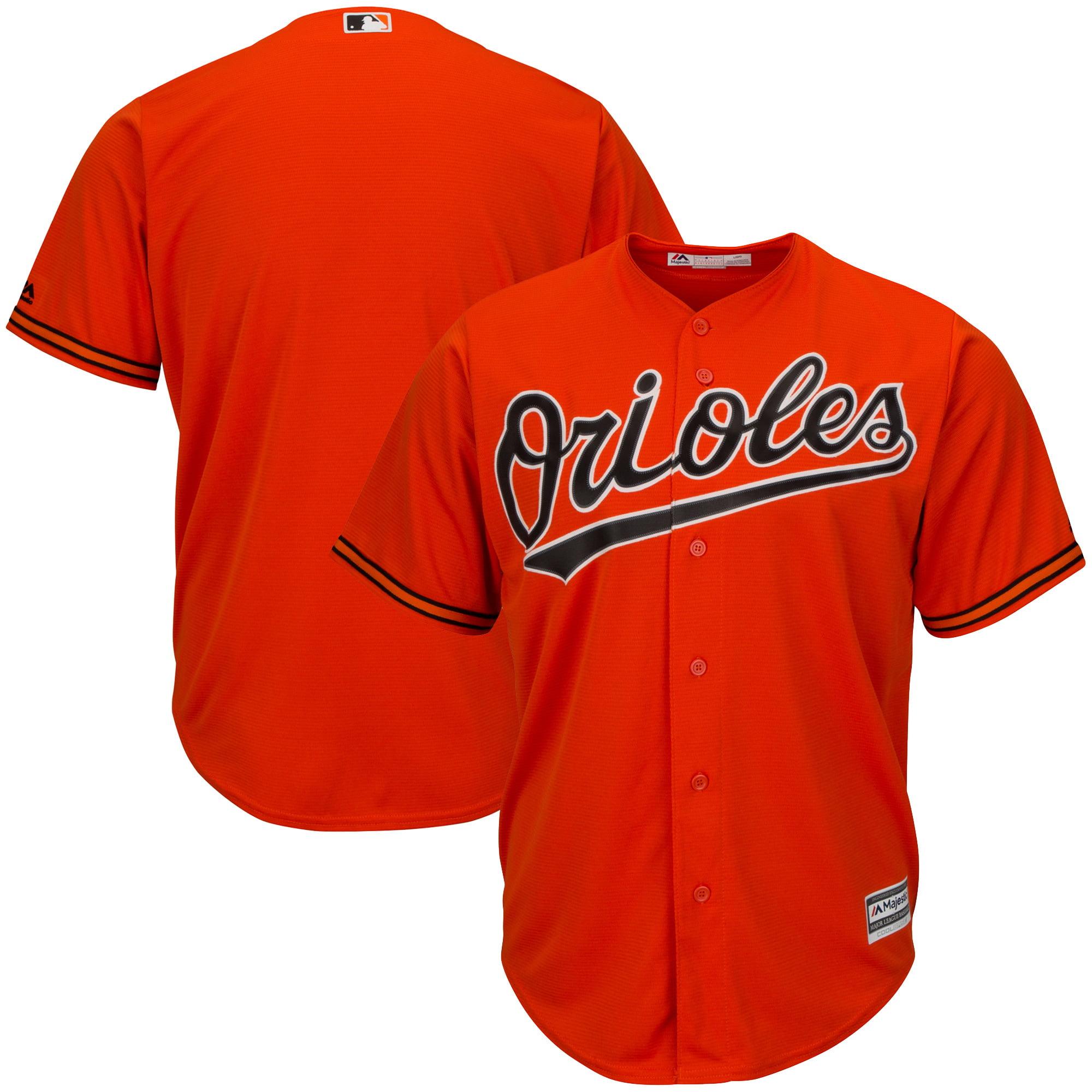 Men's Majestic Orange Baltimore Orioles Big & Tall Cool Base Team Jersey by Profile