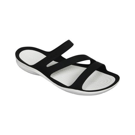 4fa3cef64abc48 Crocs - Crocs Women s Swiftwater Sandal Black White - 6M - Walmart.com