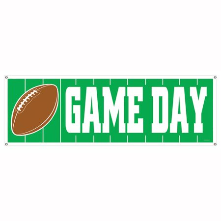The Beistle Company Game Day Football Sign Banner - Fantasy Football Banner