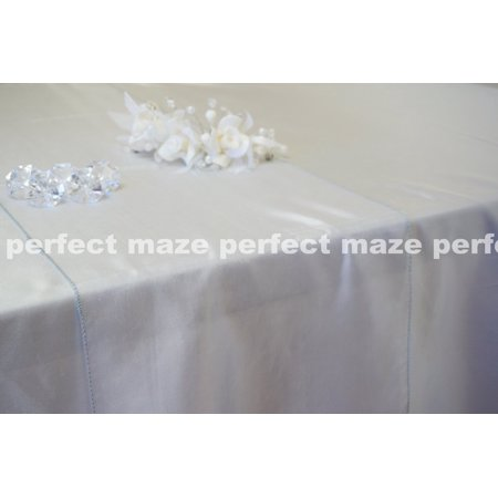 Perfectmaze 12 x 108 Inch Silver Organza Table Runner for Wedding, Party, Engagements, Formal Events Table - Formal Table Decoration Ideas