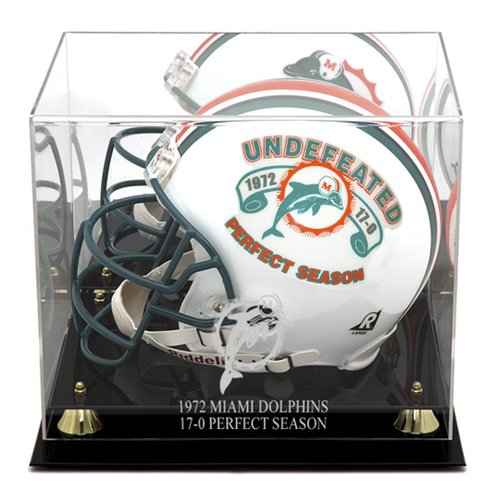 Mounted Memories Miami Dolphins 1972 Commemorative Logo Helmet Case