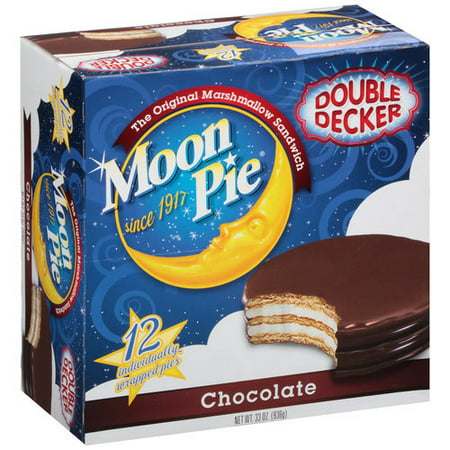 (2 Pack) Moon Pie Double Decker Chocolate, 12.0