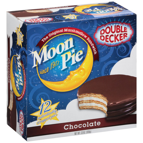 (3 Pack) Moon Pie Double Decker Chocolate, 12.0 CT