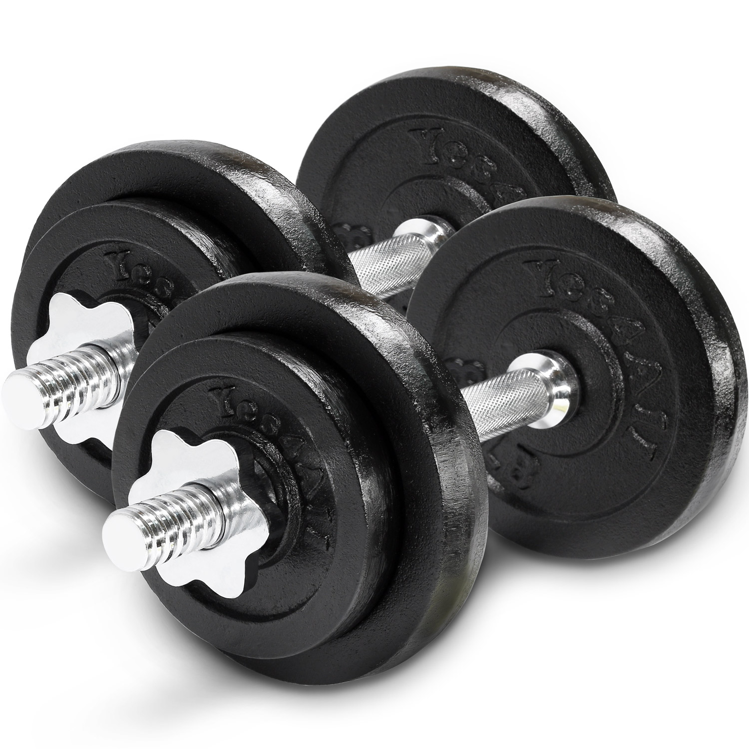 Yes4All Cast Iron Adjustable Dumbbell