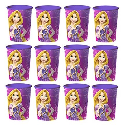 Disney Tangled Princess Rapunzel Reusile Cups (12x) ~ Birthday Party Supplies Plastic Favors
