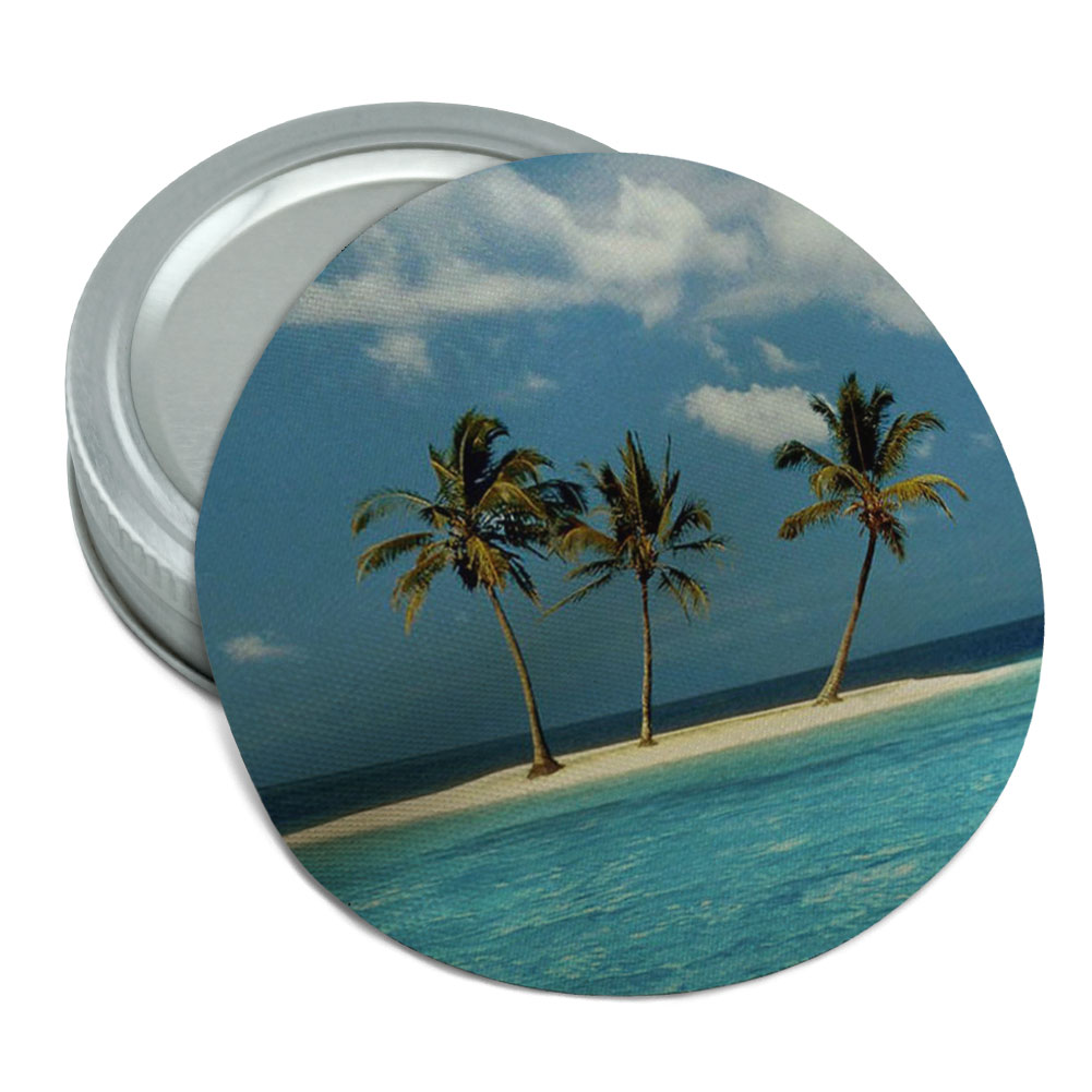 Deserted Island Beach: Tropical Deserted Island Beach Ocean Round Rubber Non-Slip