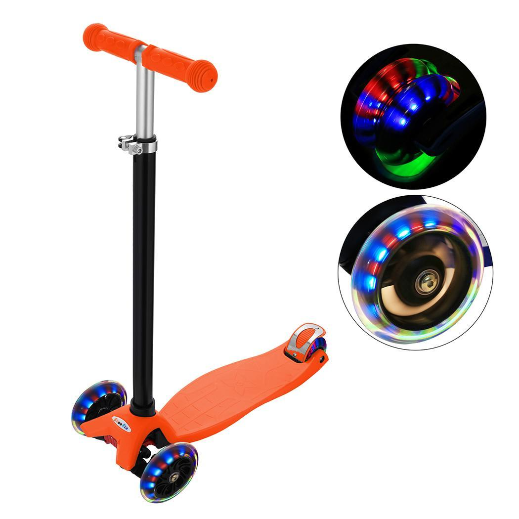 Christmas Clearance&Sale!!New Aluminum Alloy 3 Wheel Kick Scooter for Boys& Girls Pink, Orange, Green, Blue