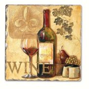 Counter Art CART11735 Tasting Notes Single Tumbled Tile Coasters