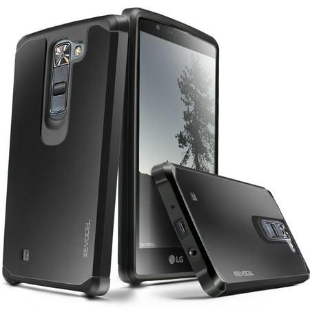 LG K7 / LG Tribute 5 Case, Evocel [Lightweight] [Slim Profile] [Dual Layer] [Smooth Finish] [Raised Lip] Armure Series Phone Case for LG K7 / LG Tribute 5, Black