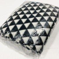 "Shason Textile (2 Yards cut), Fashion Geometric Anti-Pill Fleece, 72""x 60"" Fabric, Black/White"