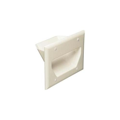 Datacomm 45-0003-LA 3-Gang Recessed Low Voltage Cable Plate - Lite Almond