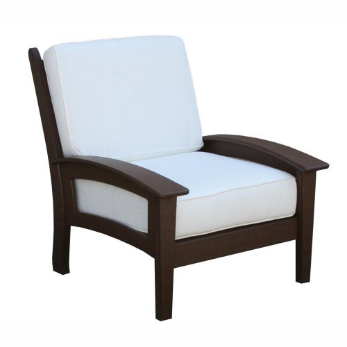 Newport Chair with Cushions-Green-Cushions-White