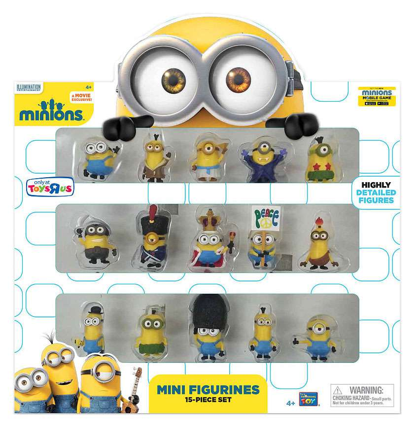 Despicable Me Minions Movie Minions Mini Figurines 15-Piece Set by Thinkway