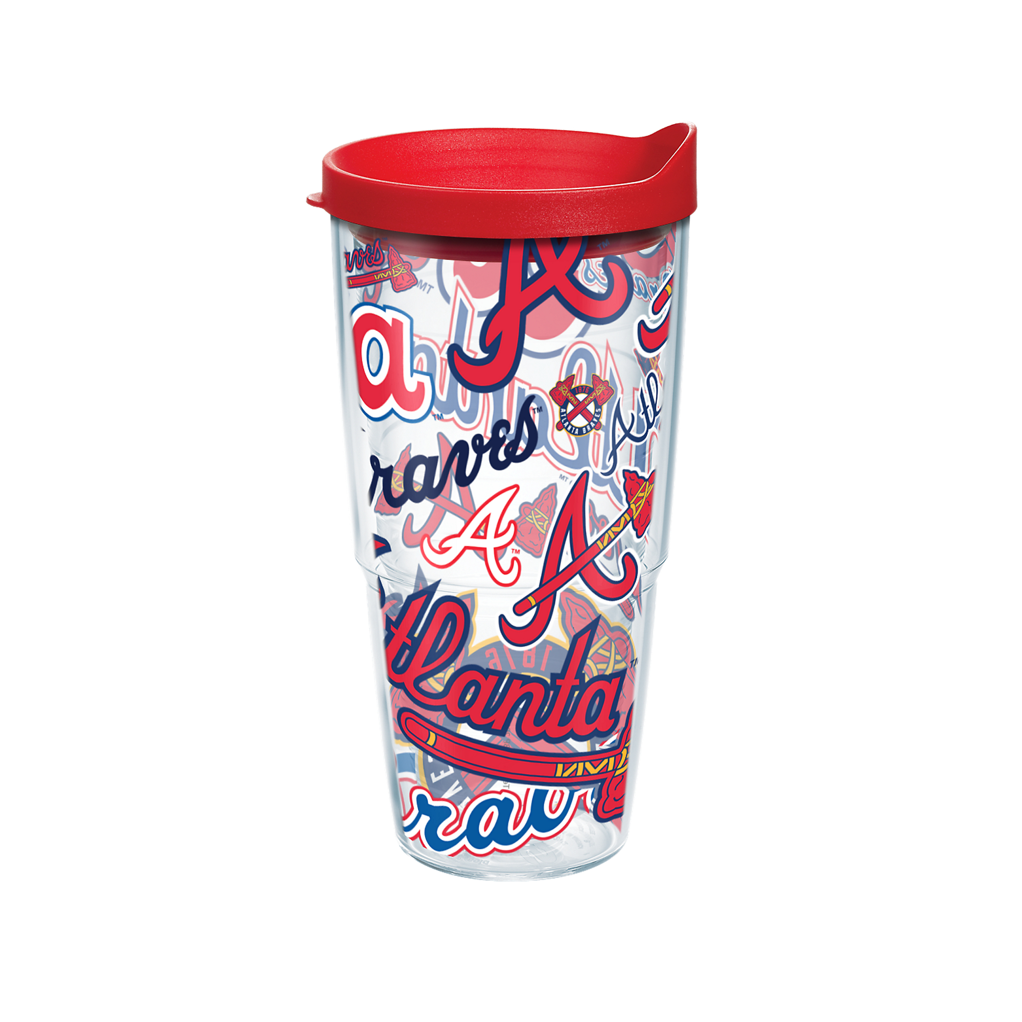 MLB Atlanta Braves All Over 24 oz Tumbler with lid