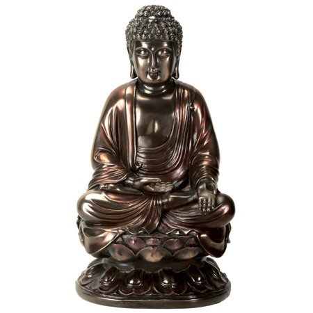 Lotus Flower Buddha (Guatama Buddha Sitting on Lotus Bronze Buddhism State Figurine Decoration New )