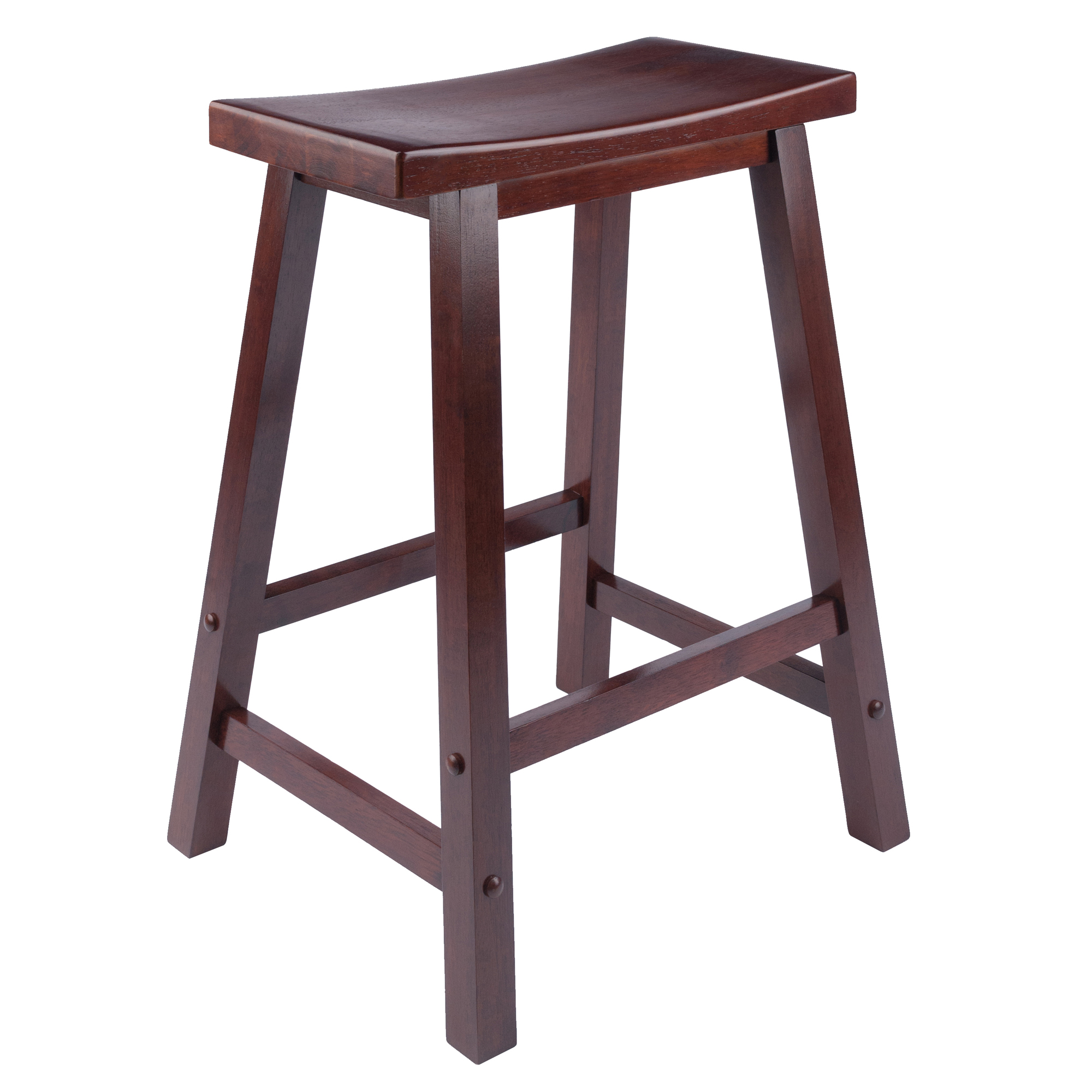 .29 Winsome Wood Satori Saddle Seat Bar Stool Walnut