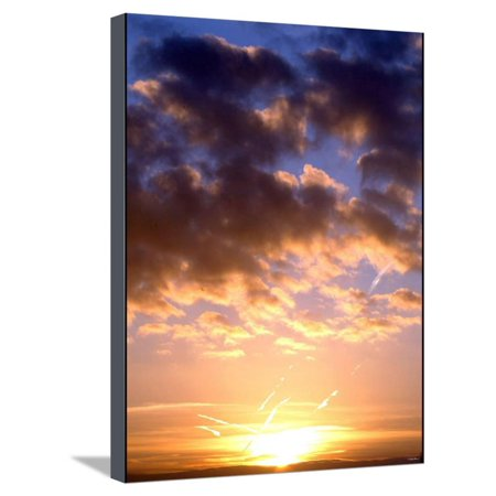 Dawn Breaks Over Southern England at the Start of Partial Solar Eclipse, October 2005 Stretched Canvas Print Wall Art