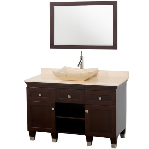 Wyndham Collection Premiere 48'' Single Bathroom Vanity Set with Mirror