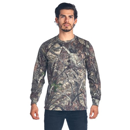 Camo Hunting Long Sleeve Shirt w/ PocketCamouflage Authentic True Timber (Authentic Long Sleeve Shooting Shirt)