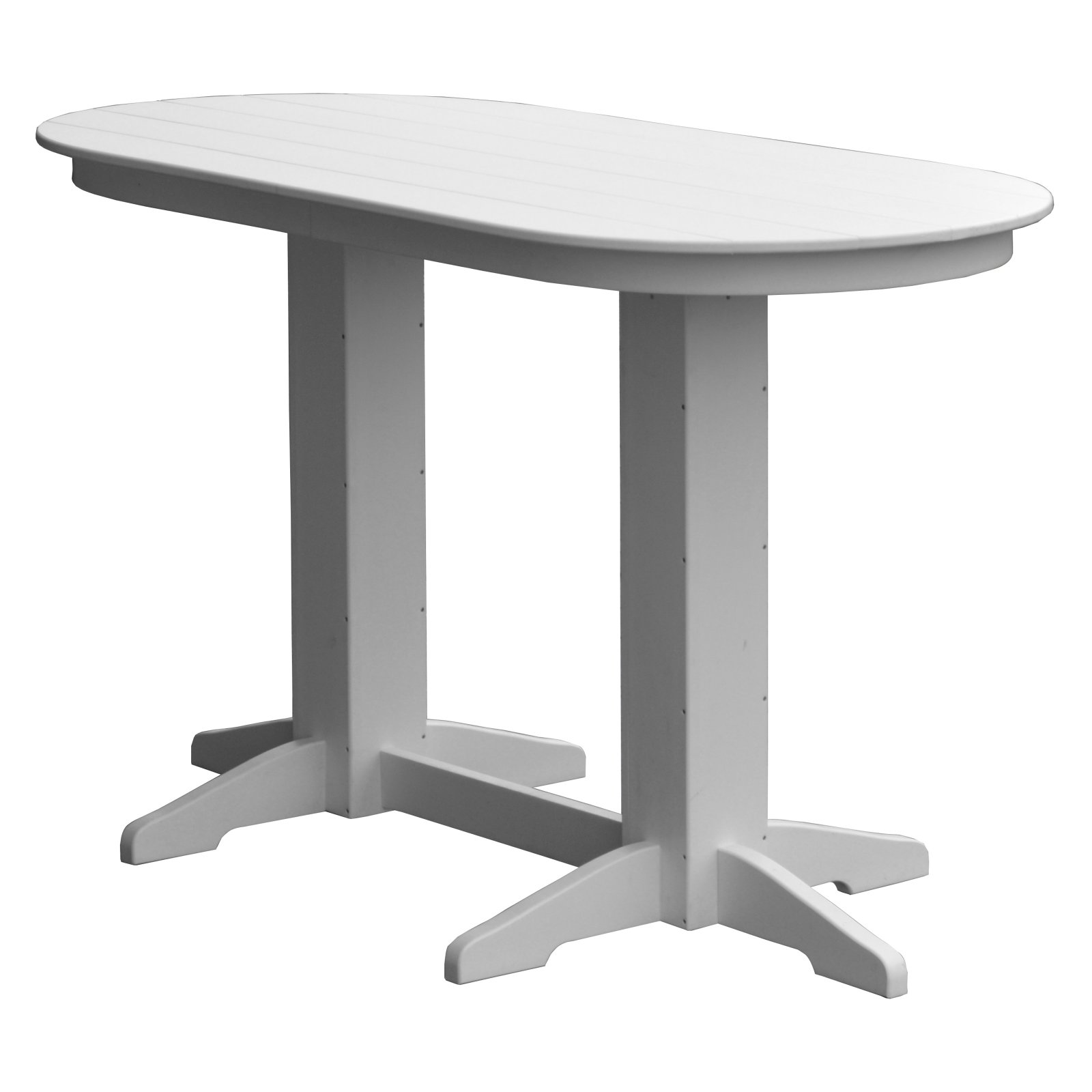 Radionic Hi Tech Rochester Recycled Plastic Oval Dual Pedestal Bar
