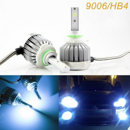 Xotic Tech 9006 HB4 LED Headlight Bulbs Ice Blue 8000K COB LED Headlight Conversion Kit For High / Low Beam Daytime Running Lights Newest Model