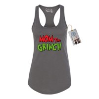 Mom The Grinch Christmas Womens Racerback Tank Top