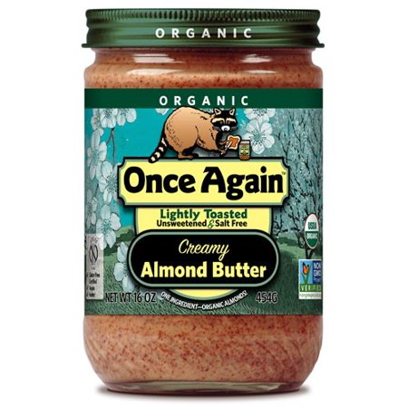 Once Again Organic Almond Butter, Creamy, Lightly Toasted, 16