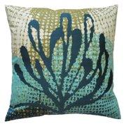 Koko Company Ecco Blue Leaf Decorative Pillow