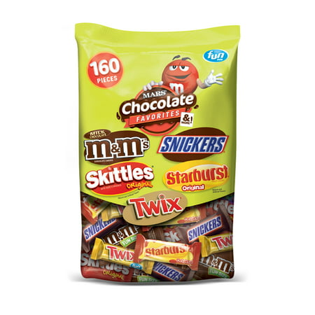 Bad Candy For Halloween (Mars Wrigley FUN SIZE Favorites Variety Candy Bag | Contains 160 Pieces, 72.83 Oz. | M&M'S, TWIX, SNICKERS, SKITTLES,)