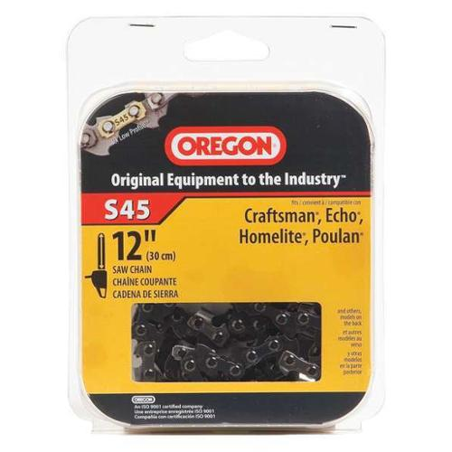 OREGON S45 Saw Chain, 12 In., .050 In., 3/8 In. Pitch