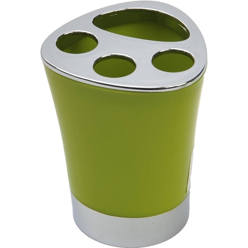 Evideco Bathroom Toothbrush and Toothpaste Holder -Chrome Parts- Solid Colors