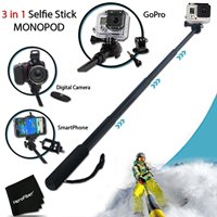 Xtech Extendable Handheld Monopod Pole for GoPro HERO4, GoPro HERO3, GoPro Hero3+, and All GoPro HERO Cameras
