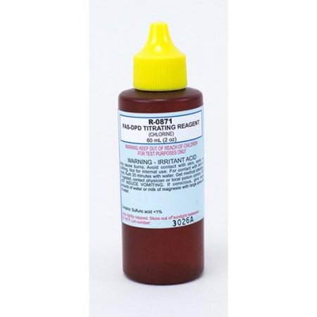 Taylor R0871 C Swimming Pool Test Kit Titrating Reagent