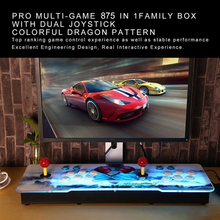 875 In 1 Home TV Monitor Multiplayer Arcade Game Console Controller Kit Set