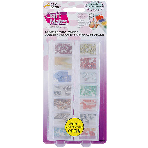 """Craft Mates Ezy Lock Caddy, 7 Compartments, 2/Pkg, 1.5"""" x 6"""" x .75"""", For Use In 90251"""