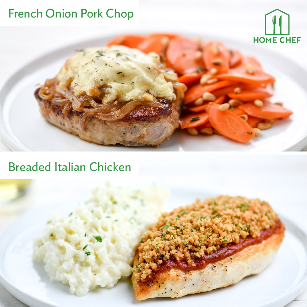 Home Chef Meal Kits, Calorie Conscious Dinner for 2. 2 Meals