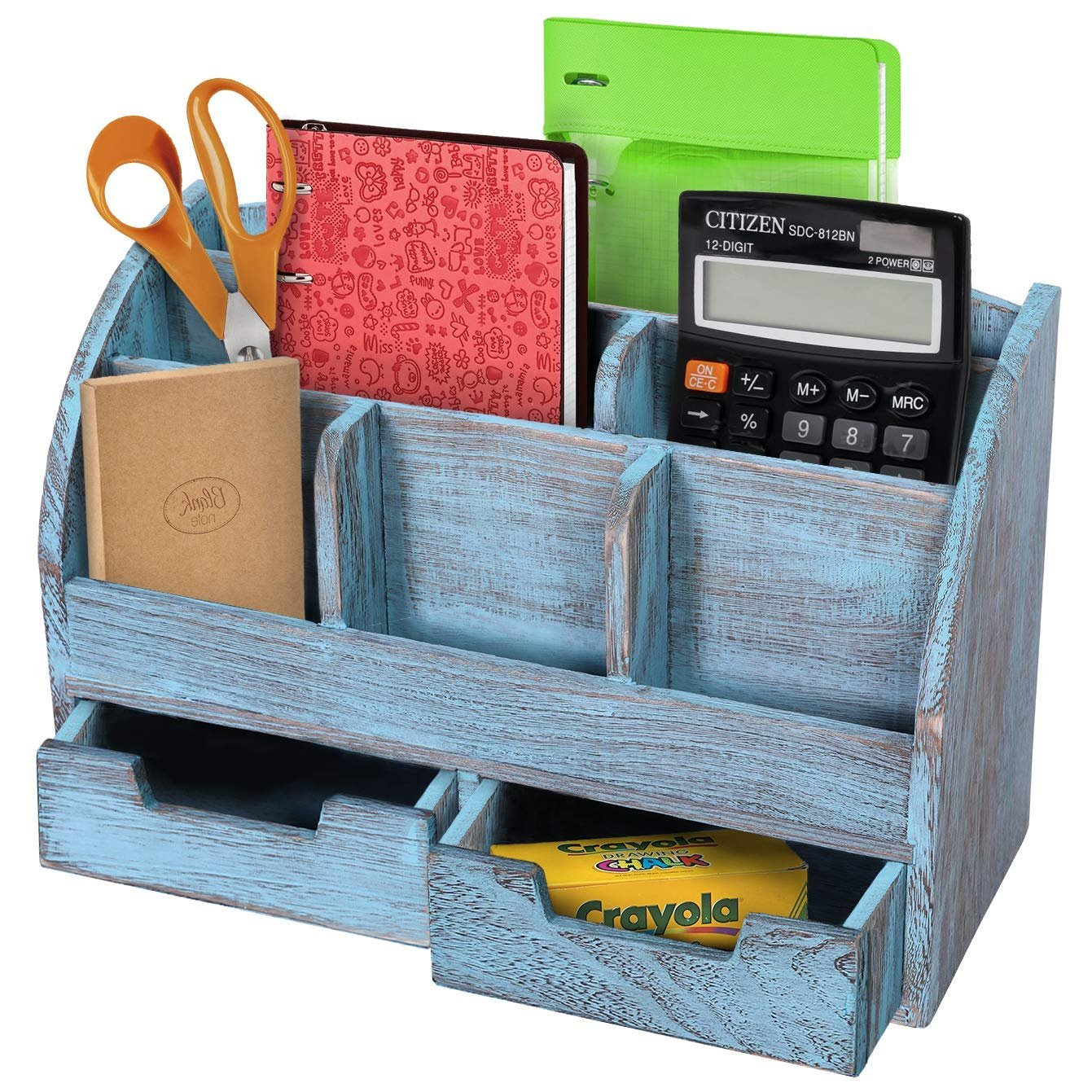 Rustic Wooden Desk Organizer For Home