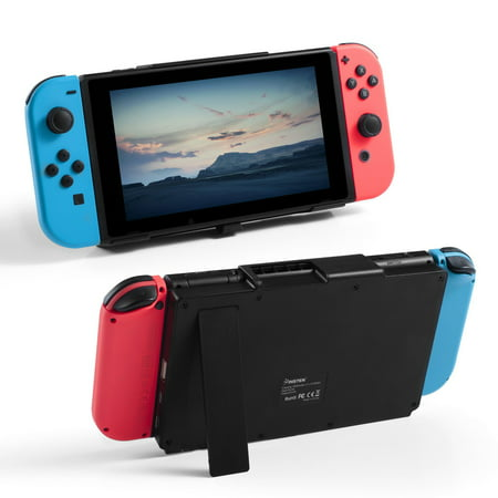 Insten Nintendo Switch Stand Charger 10000mah Powerbank Power Bank Battery Case with Kickstand & USB Type C, C Type USB Slot Charging Dock For Nintendo (Best Power Bank For Nintendo Switch)