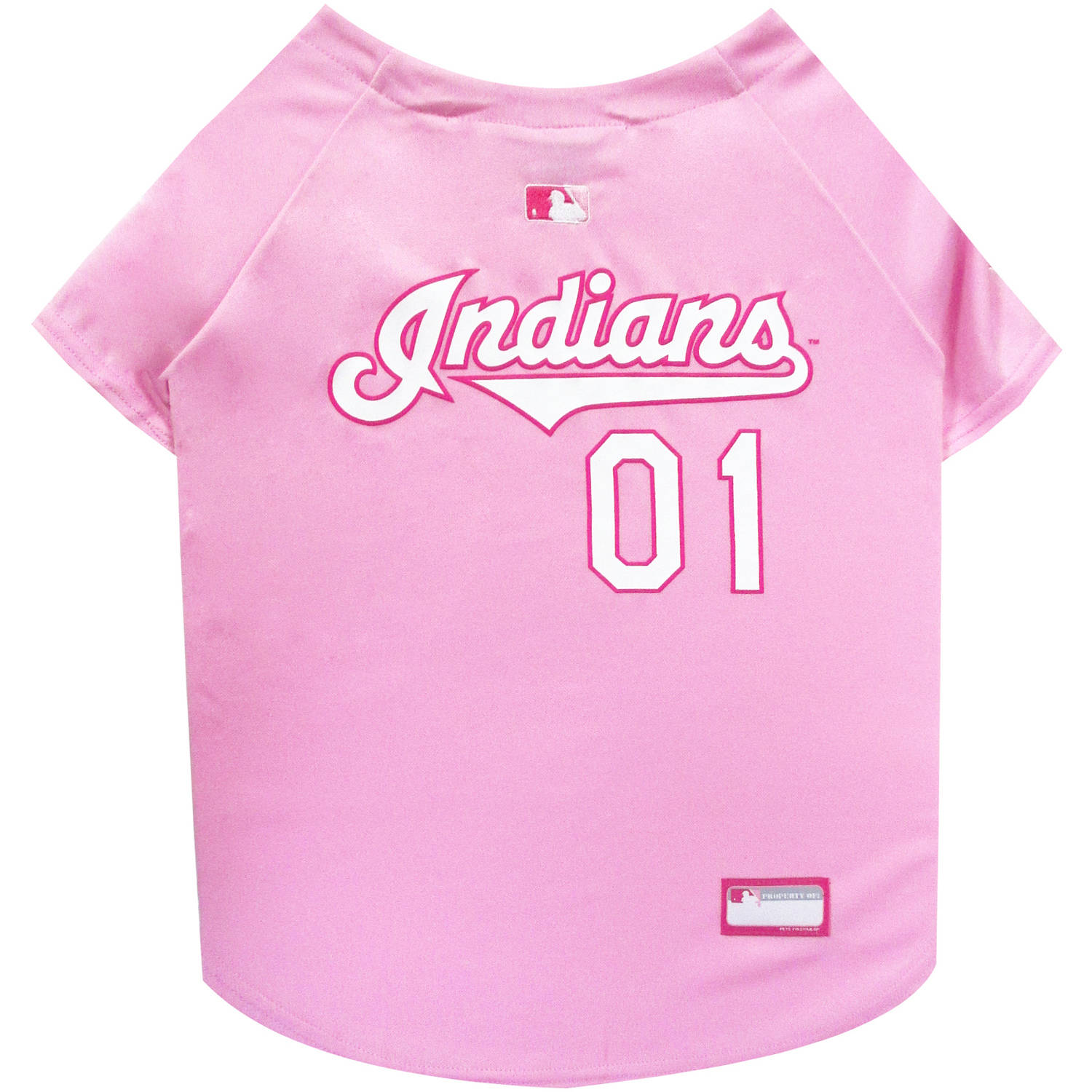 Pets First MLB Cleveland Indians Pet Pink Jersey, X - Small