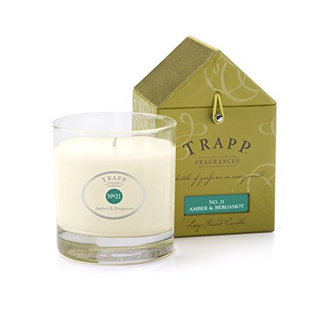 Trapp Candle Flowers - Trapp Signature Home Collection No. 21 Amber & Bergamot Poured Candle, 7-Ounce