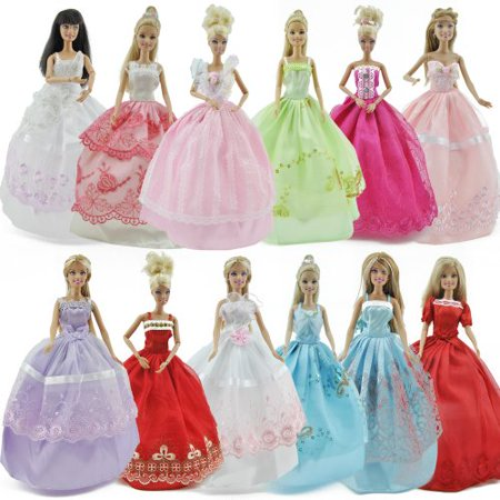 E-TING Lot 5 P 5x Fashion Handmade Clothes Dresses Grows Outfit for Dolls Doll
