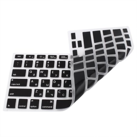 "Russian Silicone Keyboard Skin Cover Black for Apple Macbook Air 13""15""17"" US - image 1 of 2"
