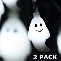 TORCHSTAR 2 Pack 9.8ft Holiday Decoration String Lights with Ghost Pendants