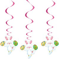 Easter Bunny Happy Hanging Decorations, 26in, 3ct